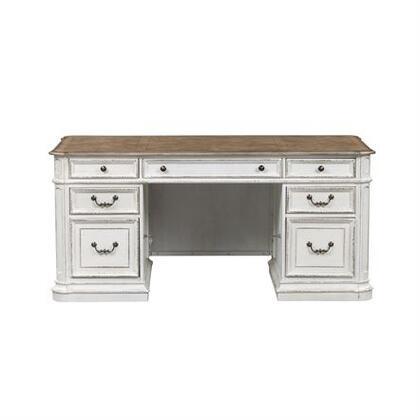 Liberty Furniture Magnolia Manor 244HOJDSK Office Desk White, 244 hoj dsk main