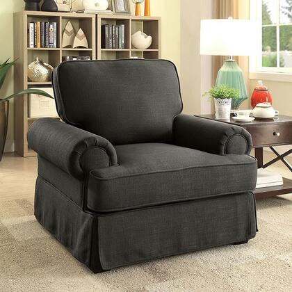 Furniture of America Badalona I CM6376GYCH Living Room Chair Gray, Main Image