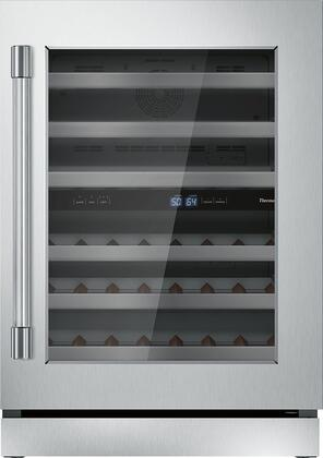 Thermador Professional T24UW920RS Wine Cooler 26-50 Bottles Stainless Steel, T24UW920RS 24-Inch Under-Counter Wine Reserve with Glass Door