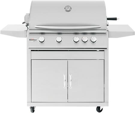 """CART-SIZ32 Sizzler Series Freestanding Cart for 32"""""""" Grill  in Stainless -  Summerset Grills, CARTSIZ32"""