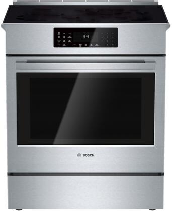 Bosch Benchmark  HIIP055U Slide-In Electric Range Stainless Steel, Main Image