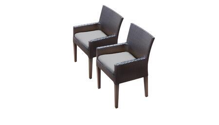 TK Classics BARBADOSTKC097BDCCGREY Patio Chair, BARBADOS TKC097b DC C GREY