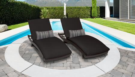 TK Classics BELLE CURVED CHAISE 2x BLACK