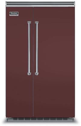 Viking 5 Series VCSB5483KA Side-By-Side Refrigerator Red, VCSB5483KA Side-by-Side Refrigerator