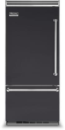 Viking 5 Series VCBB5363ELGG Bottom Freezer Refrigerator Slate, In Grey