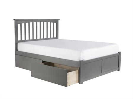 Atlantic Furniture Mission AR8732119 Bed Gray, AR8732119 side