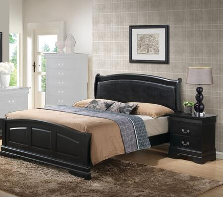 Glory Furniture G3150 G3150CKB2BEDROOMSET Bedroom Set Black, Main View