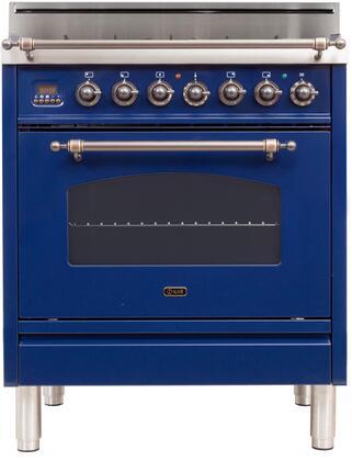 Ilve Nostalgie UPN76DVGGBLY Freestanding Gas Range Blue, UPN76DVGGBLY Front View