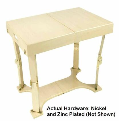 Spiderlegs CCT1828NB Folding Table, Actual Hardware: Nickel and Zinc Plated (Not Shown)