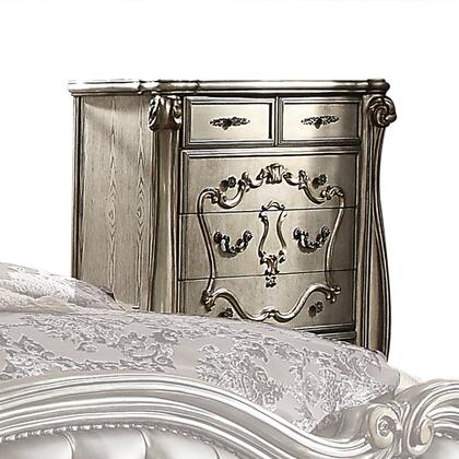 Acme Furniture Versailles 26846 Chest of Drawer Silver, Angled View