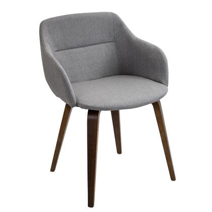 LumiSource Campania CHCMPWLGY Accent Chair Gray, mage 1