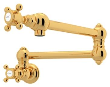 Rohl Italian Country Kitchen A1451XMIB2 Faucet Yellow, Inca Brass
