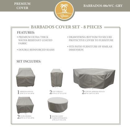 BARBADOS-08eWC-GRY Protective Cover Set  for BARBADOS-08e in