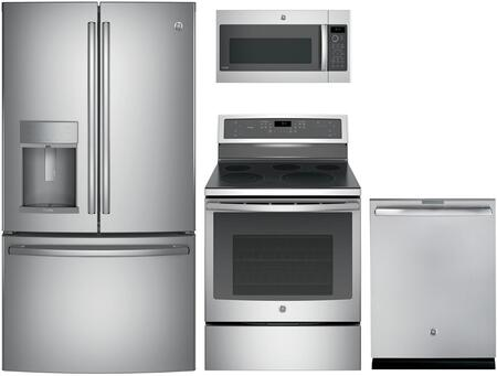 GE Profile 988533 Kitchen Appliance Package & Bundle Stainless Steel, main image