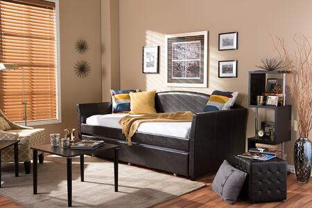 Baxton Studio London LONDONBROWNDAYBED Bed Brown, London Brown Daybed 6