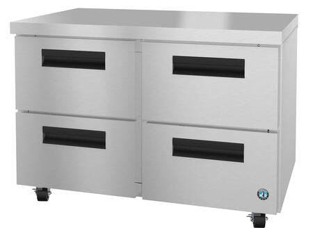 Hoshizaki Steelheart UR48AD4 Undercounter and Worktop Refrigerator Stainless Steel, UR48AD4 Angled View
