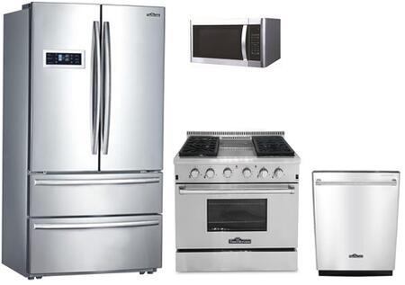 Thor Kitchen  826378 Kitchen Appliance Package Stainless Steel, 6