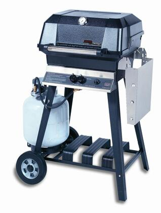 23″ Freestanding Liquid Propane Grill Head with Cart 495 sq. inches Total Cooking Area  1 Dual Burner  30000 BTU  Electronic Ignition  Sta-Kool