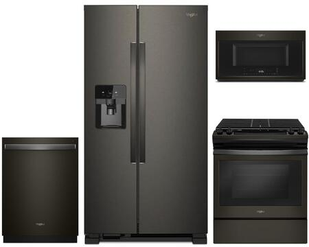 Whirlpool 1054324 Kitchen Appliance Package & Bundle Black Stainless Steel, main image