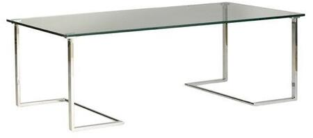 Allan Copley Designs Edwin 2080301 Coffee and Cocktail Table Silver, Cocktail Table