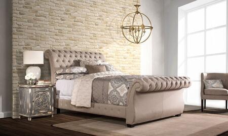Hillsdale Furniture Bombay 1118BKRL Bed Beige, main image