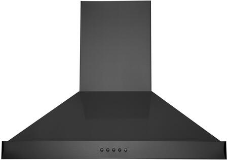 WM-590BSS-30 30″ WM-590 Wall Mount Range Hood with 860 CFM  LED Lighting  Stainless Steel Baffle Filters ad Push Button Controls in Black Stainless
