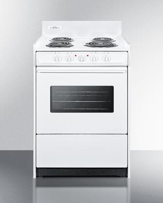 Summit  WEM610W Freestanding Electric Range White, WEM610W Electric Coil Element Range