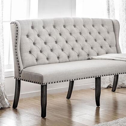 Furniture of America Sania I CM3324BKBNL Bench Beige, cm3324bk bnl 1