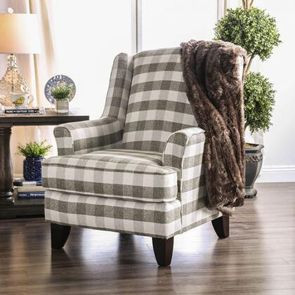 Furniture of America Christine SM8280CH Living Room Chair Gray, main image