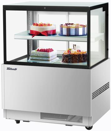 Turbo Air TBP3646FNS Display and Merchandising Refrigerator Stainless Steel, TBP3646FNS Angled View