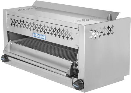 TASM-36 36″ Salamander Broiler with 35 000 BTU Output  Stainless Steel Spring Balanced Grid  Removable Grease Pan and Adjustable Gas Valve in