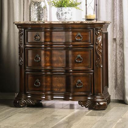 Furniture of America Arcturus CM7859N Nightstand Brown, CM7859N