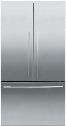 Fisher Paykel Contemporary RF201ADX5N French Door Refrigerator Stainless Steel, Front View