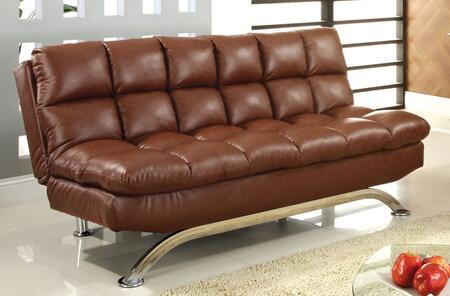Furniture of America Aristo CM2906 Futon Brown, Main Image