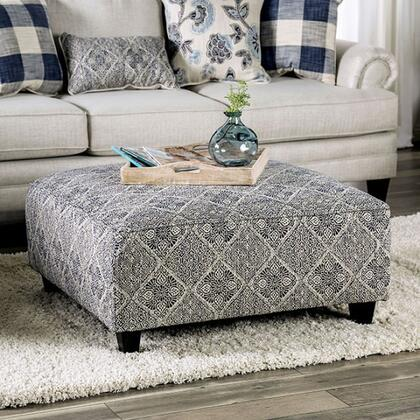 Furniture of America Nash SM8101OT Living Room Ottoman Gray, SM8101-OT Main