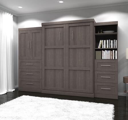 Bestar Furniture 2688947 Bed, bestar pur murphy bed bark grey 26889 47 closed room