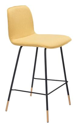 Zuo Var Series 101894 Counter Chairs Yellow, 101894 1
