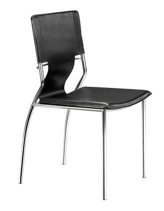 Zuo Trafico 404131 Dining Room Chair Black, 404131 1