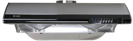 UC-C190SS-30 30″ C190 Under Cabinet Range Hood with 750 CFM  3 Fan Speeds  Grease Container and Incandescent Lights in Stainless
