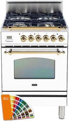 Ilve Nostalgie UPN60DVGGRAL Freestanding Gas Range Custom Color, UPN60DVGGYRAL Custom RAL Color