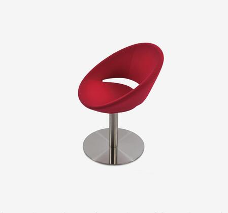 Delancey 100-MCD-SWR-REL Swivel Chair in Red Eco