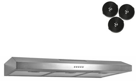AKDY RH0339 Under Cabinet Hood Stainless Steel, 1