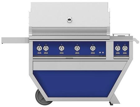 Hestan GABR42CX2NGBU Natural Gas Grill Blue, Front View