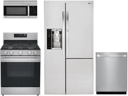 LG  423563 Kitchen Appliance Package Stainless Steel, main image