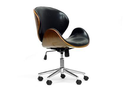 Wholesale Interiors SDM22405WALNUTBLACK Office Chair, SDM 2240