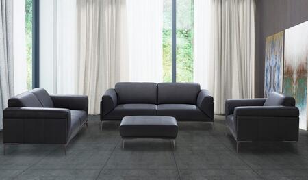J and M Furniture Knight 18249SLCO Living Room Set Black, Knight Sofa Set