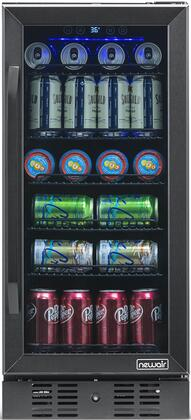 NBC096BS00 15″ Beverage Center with 96 Can or 3.2 cu. ft. Capacity  Digital Temperature Readout  Triple Pane Glass Door  in Black Stainless