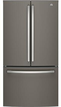 GE  GNE27JMMES French Door Refrigerator Slate, Main Image