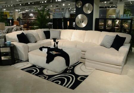Jackson Furniture Everest 4377623076233401268648268008 Sectional Sofa White, Main Image