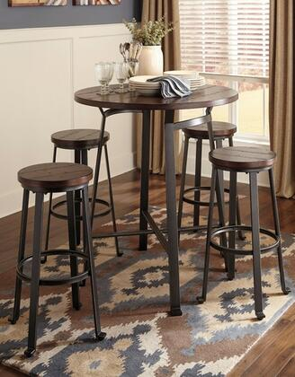 Signature Design by Ashley Challiman D30713130(4) Dining Room Set Brown, 1